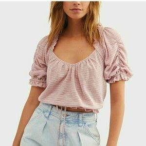 Free People Pink Dorothy Blouse